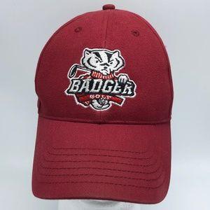 UW Badgers Golf Strapback Cap Hat Wisconsin Adidas